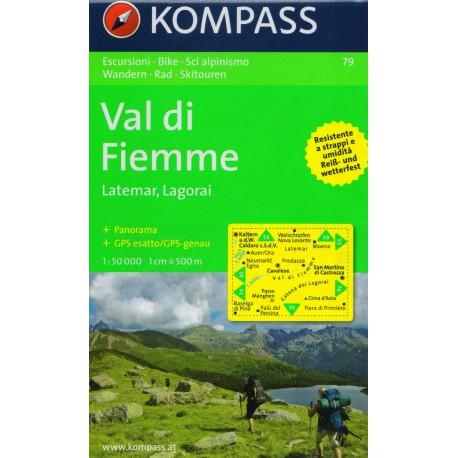 Kompass 79 Val di Fiemme, Latemar, Lagorai 1:50 000