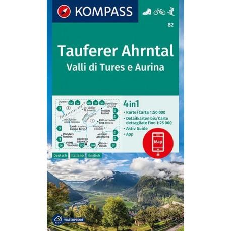 Kompass 82 Taufers/Tures, Ahrntal/Valle Aurina 1:50 000
