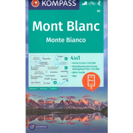 Kompass 85 Mont Blanc/Monte Bianco 1:50 000