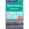 Kompass 85 Mont Blanc/Monte Bianco 1:50 000 turistická mapa