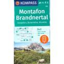 Kompass 032 Montafon, Gargellen, Bielerhöhe, Silvretta 1:25 000 turistická mapa