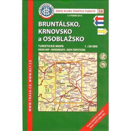 KČT 58 Bruntálsko, Krnovsko, Osoblažsko 1:50 000