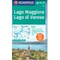 Kompass 90 Lago Maggiore, Lago di Varese 1:50 000 turistická mapa