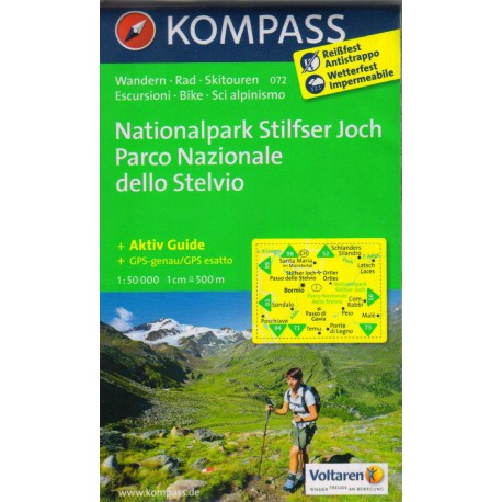 Kompass 072 Nationalpark Stilfser Joch 1:50 000