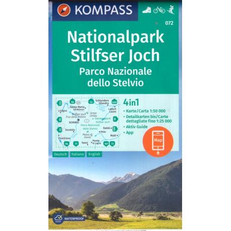 Kompass 072 Nationalpark Stilfser Joch 1:50 000