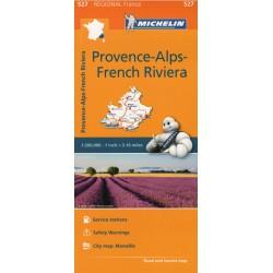 Michelin 527 Provence-Alpy-Azurové pobřeží/Francouzská Riviéra 1:200 000 automapa