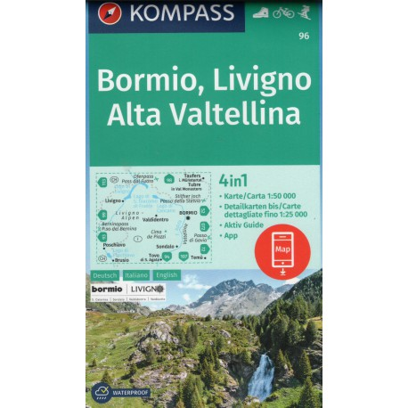96 Bormio, Livigno, Valtellina 1:50 000