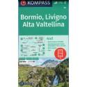 Kompass 96 Bormio, Livigno, Valtellina 1:50 000 turistická mapa