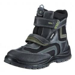 Primigi Matis GTX Kids black/safari green/grey 9711077 dětské zimní nepromokavé boty