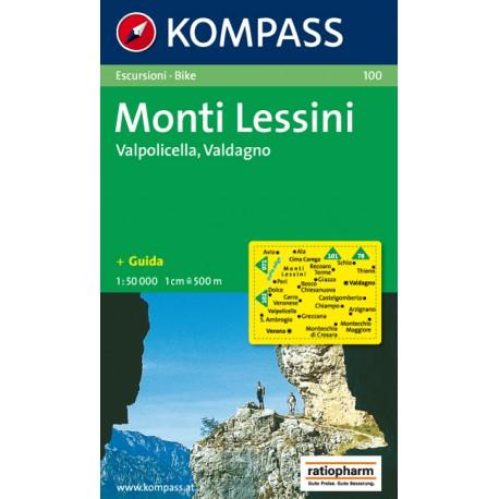 Kompass 100 Monti Lessini, Gruppo della Carega, Recoaro Terme 1:50 000