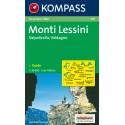 Kompass 100 Monti Lessini, Gruppo della Carega, Recoaro Terme 1:50 000 turistická mapa