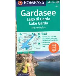 Kompass 102 Lago di Garda, Monte Baldo 1:50 000