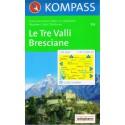 Kompass 103 Le Tre Valli, Bresciane 1:50 000 turistická mapa