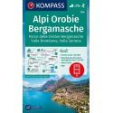 Kompass 104 Alpi Orobie, Bergamasche 1:50 000 turistická mapa