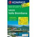 Kompass 105 Lecco, Valle Brembana 1:50 000 turistická mapa