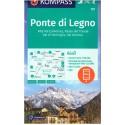 Kompass 107 Ponte di Legno, Alta Val Camonica, Passo del Tonale 1:50 000 turistická mapa