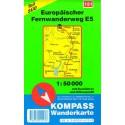 Kompass 121 Europäischer Fernwanderweg E5 Teil Süd 1:50 000 turistická mapa