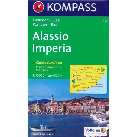 Kompass 641 Alassio, Imperia 1:50 000