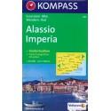 Kompass 641 Alassio, Imperia 1:50 000 turistická mapa
