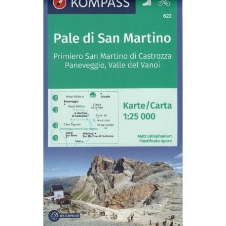 Kompass 622 Pale di San Martino, Fiera di Primiero 1:25 000