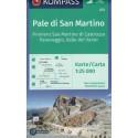 Kompass 622 Pale di San Martino, Fiera di Primiero 1:25 000 turistická mapa