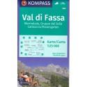 Kompass 686 Val di Fassa, Marmolada, Gruppo di Sella 1:25 000 turistická mapa