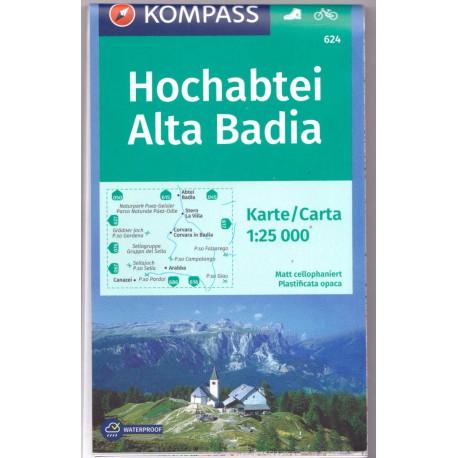 Kompass 624 Hochabtei/Alta Badia 1:25 000