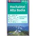 Kompass 624 Hochabtei/Alta Badia 1:25 000 turistická mapa