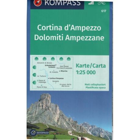 Kompass 617 Cortina d'Ampezzo, Dolomiti Ampezzane 1:25 000