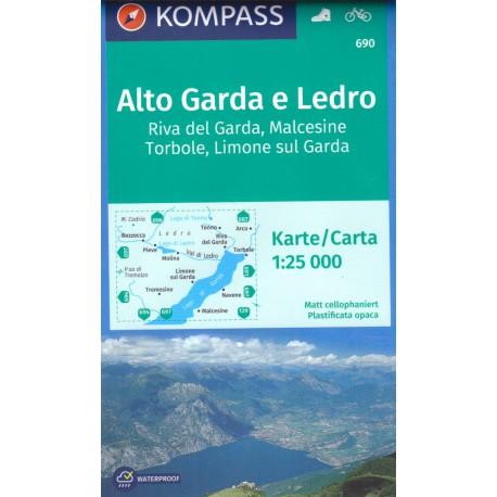 Kompass 690 Alto Garda e Ledro 1:25 000
