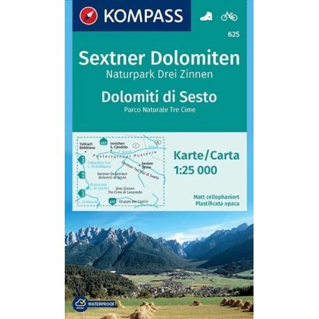 Kompass 625 Sextner Dolomiten/Dolomiti di Sesto 1:25 000