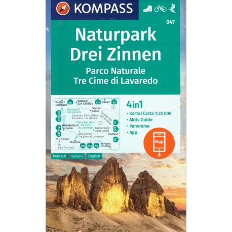 Kompass 047 Drei Zinnen/Tre Cime di Lavaredo 1:25 000