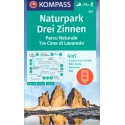 Kompass 047 Drei Zinnen/Tre Cime di Lavaredo 1:25 000 turistická mapa