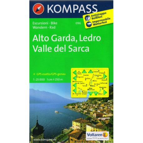 096 Alto Garda, Ledro, Valle del Sarca 1:25 000