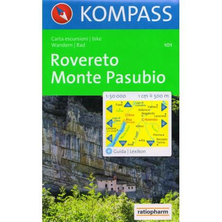 Kompass 101 Rovereto, Monte Pasubio 1:50 000