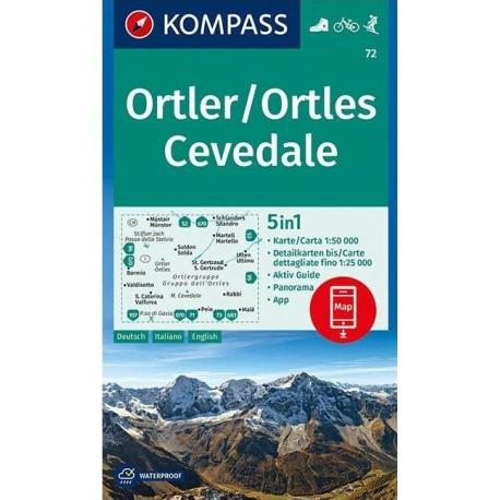 Kompass 72 Ortler/Ortles, Cevedale 1:50 000