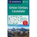 Kompass 72 Ortler/Ortles, Cevedale 1:50 000 turistická mapa