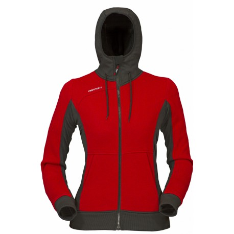 High Point Woolcan Lady Hoody red