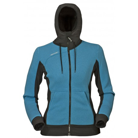 High Point Woolcan Lady Hoody blue moon