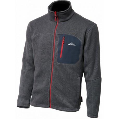 Pinguin Thermal Pro Man Full Zip šedá/červená pánská fleecová bunda Polartec Thermal Pro
