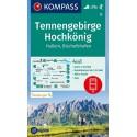 Kompass 15 Tennengebirge, Hochkönig, Hallein, Bischofshofen 1:50 000 turistická mapa