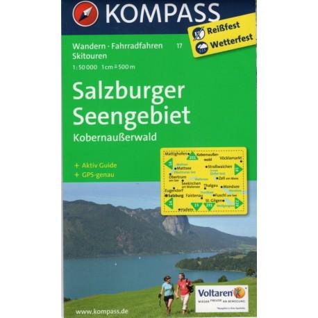Kompass 17 Salzburger Seengebiet, Kobernausserwald 1:50 000