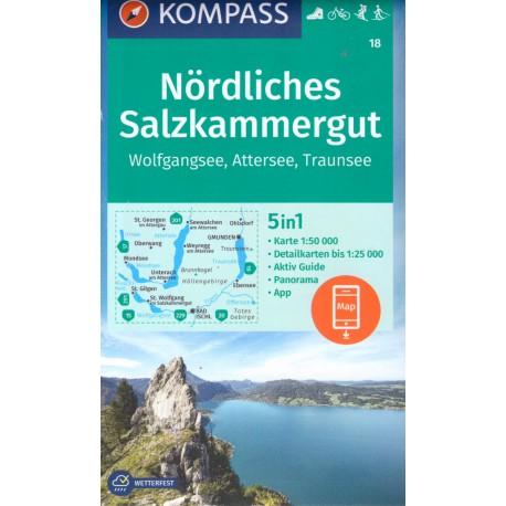 Kompass 18 Nördliches Salzkammergut 1:50 000