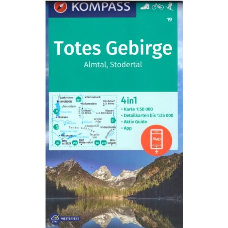 Kompass 19 Almtal, Stodertal, Totes Gebirge 1:50 000