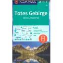 Kompass 19 Almtal, Stodertal, Totes Gebirge 1:50 000 turistická mapa