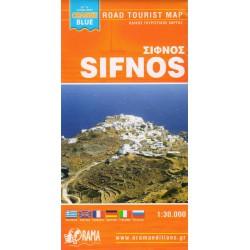 ORAMA Sifnos 1:30 000 turistická mapa