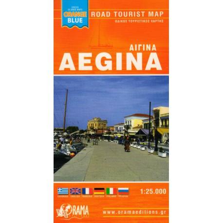 ORAMA Aegina 1:25 000 turistická mapa