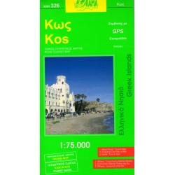 ORAMA 326 Kos 1:75 000 turistická mapa