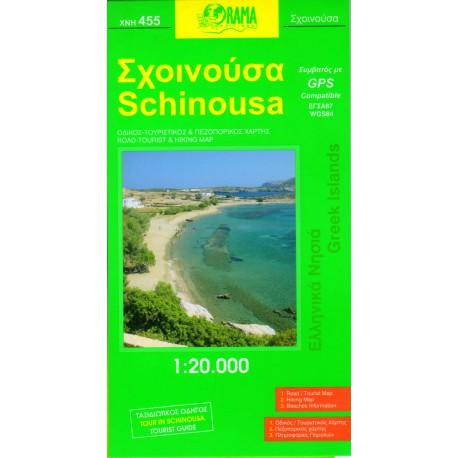 ORAMA 455 Schinousa 1:20 000 turistická mapa