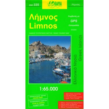 ORAMA 335 Limnos 1:65 000 turistická mapa